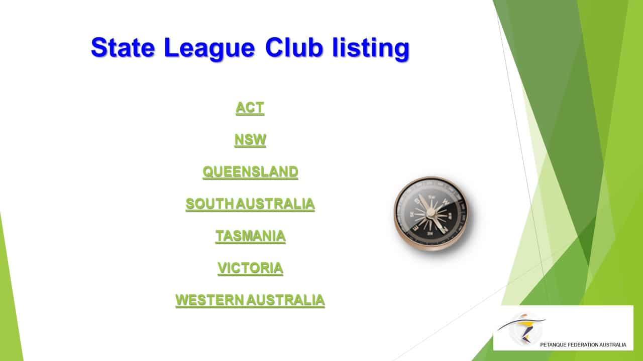 Brisbane Petanque Club State League